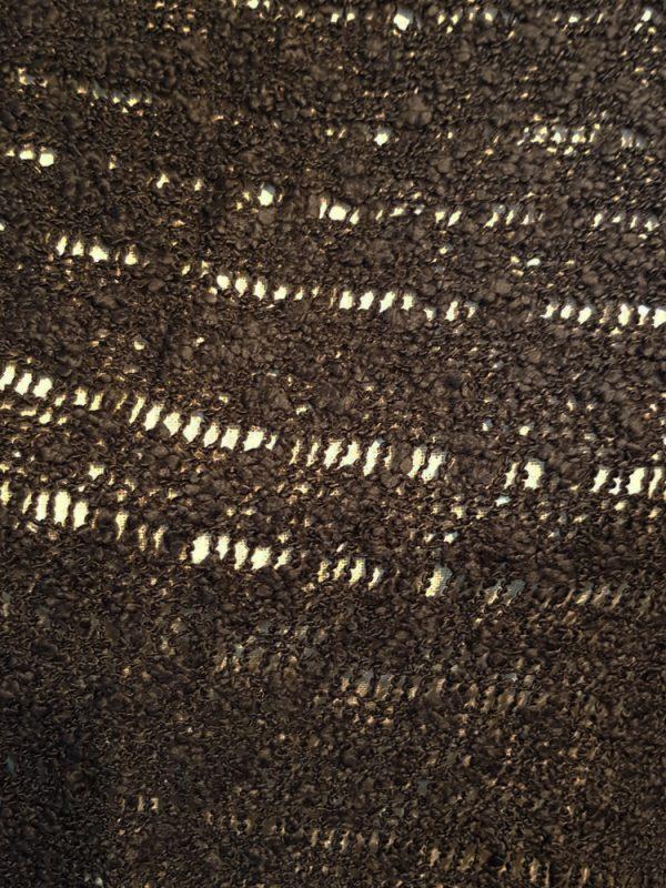 Black popcorn knit