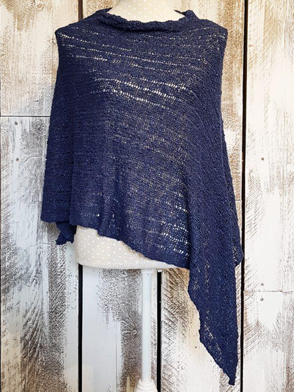 navy blue poncho
