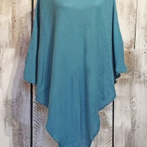teal cotton poncho