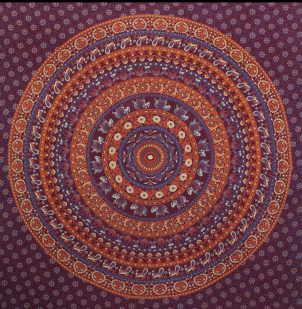Arun Elephant Mandala Throw
