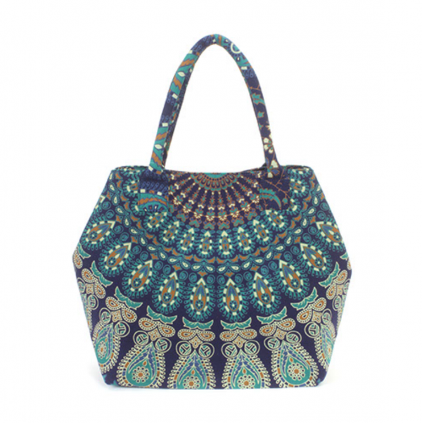 peacock shopper blue