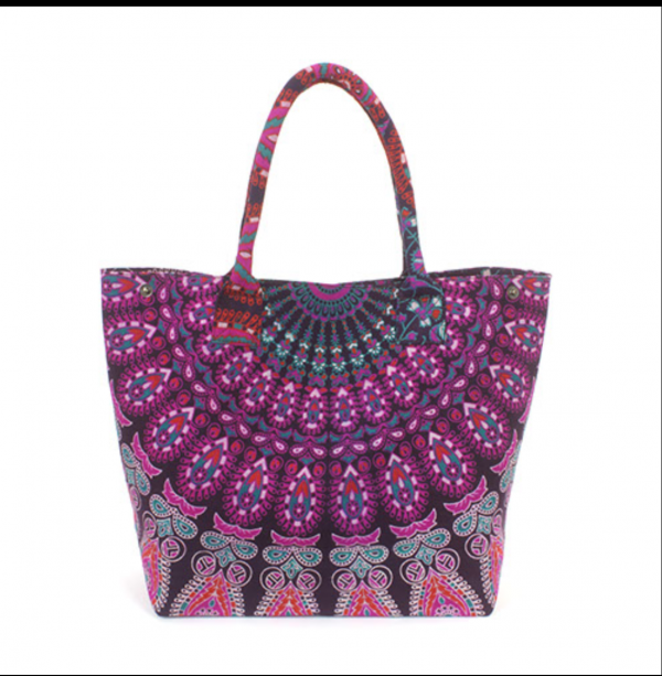 purple peacock shopper