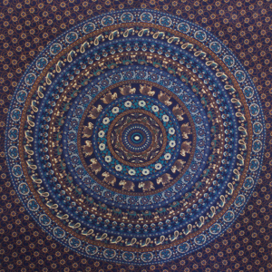 blue elephant mandala throw